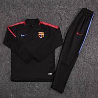 Детский костюм тренировочный Барселона сезон 2017-2018 (черный), фото 1