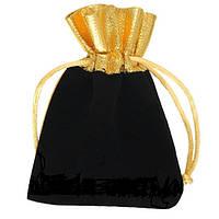 Комбинированный мешочек из бархата и органзы 9.5 x 11.5 см, фото 1