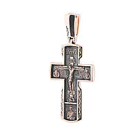Золотой православный крестик гп02408