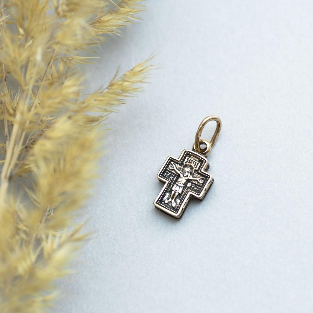 Золотой крестик с распятием гп02663