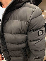 Куртка зимняя стеганая серого цвета, фото 3