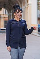 Блуза БАТАЛ  Вставки клетка 04ат651, фото 3