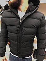 Куртка зимняя стеганая черного цвета