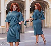 Женский костюм юбка+блузка большие размеры /ат0171, фото 1