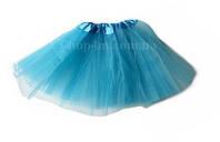 Юбка пачка фатиновая детская (голубая) до 6 лет