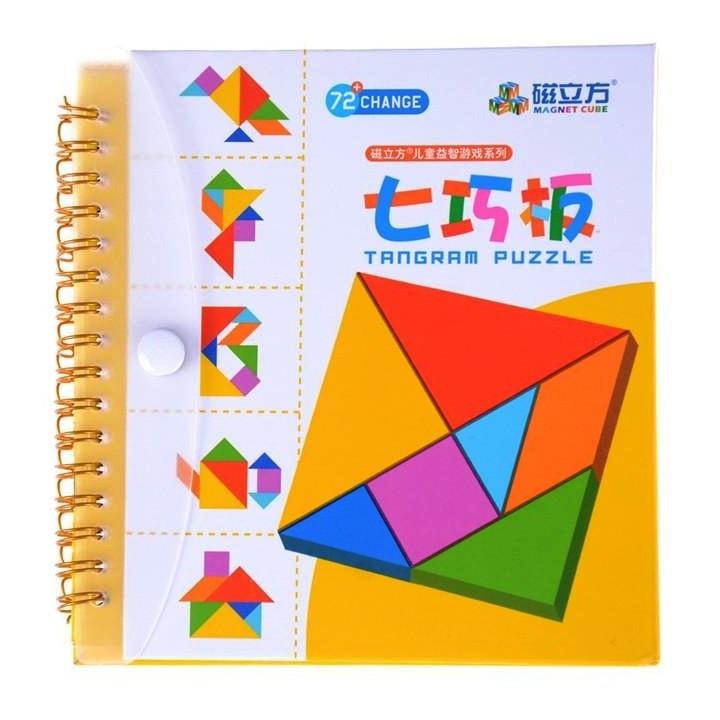 Танграм (Tangram) Дорожня магнітна гра головоломка 72 завдання