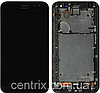 Дисплей (екран) для Asus ZenFone 2 Laser (ZE500KL, ZE500KG, ZE500ML) + тачскрін, чорний, з передньою панеллю