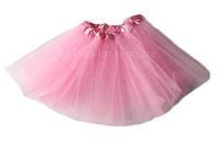 Юбка пачка фатиновая детская (розовая) до 6 лет