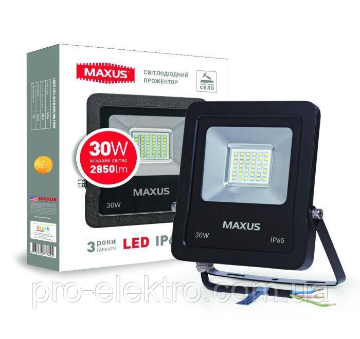 Светодиодный прожектор MAXUS 30W, 5000 K (1-MAX-01-LFL-3050)