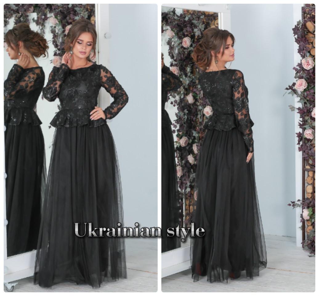 6a64701d48c Роскошное вечернее платье в пол с пышной фатиновой юбкой. 3 цвета! -  Интернет-
