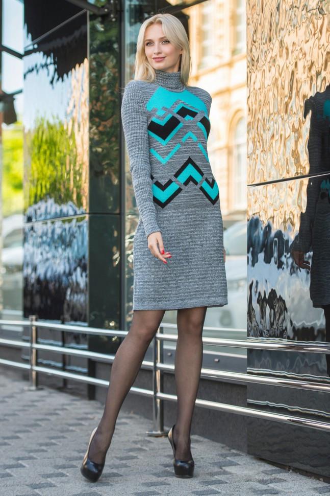 Вязаное платье Сондра р 42-50