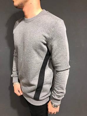 Свитшот мужской серого цвета, фото 2