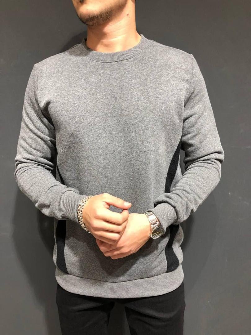 Свитшот мужской серого цвета
