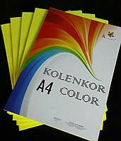 Бумага цветная 80 г/м «CYBER YELLOW» желтый неон
