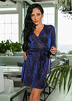 8731f5d4898 Блестящее Платье с Запахом VG-301118 — в Категории