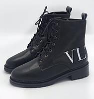 Женские кожаные ботинки VALENTINO VLTN (реплика), фото 1