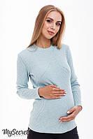 Теплый лонгслив для беременных и кормящих STEFANIA WARM, мятный меланж, фото 1