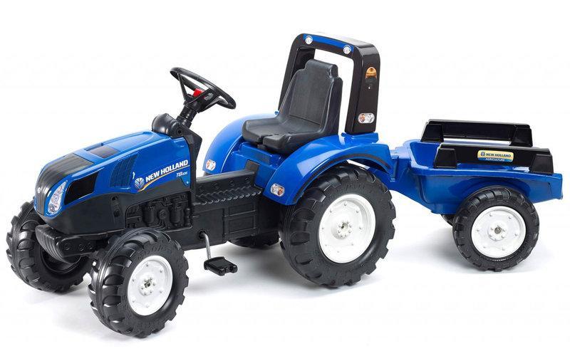 Трактор педальный с прицепом New Holland Falk