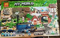 Конструктор Lele 33173 Minecraft Майнкрафт Электрическая железная дорога 1080 деталей, фото 1