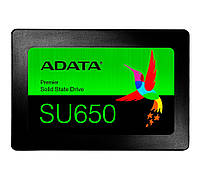 "SSD диск 120 Гб/Gb A-Data Ultimate SU650, SATA3, 2.5"", 3D NAND TLC, 520/450 MB/s (ASU650SS-120GT-R), ссд накопитель"