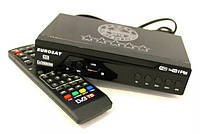 Цифровой эфирный приемник Т2 EUROSAT (Тюнер, цифровой ресивер с USB, HDMI, металл корпус)