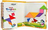 Танграм (Tangram) Дорожня магнітна гра головоломка 150 завдань, фото 7