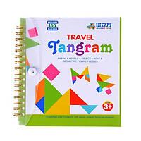 Дорожная магнитная игра головоломка Танграм (Tangram) 150 заданий, фото 1