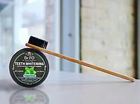 Набор Порошок Carbon Coconut + Зубная щетка из бамбука + масло для отбеливания 2 стика, производство США