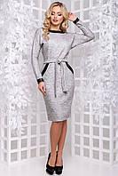Стильне плаття з шкіряною обробкою 44 - 48р
