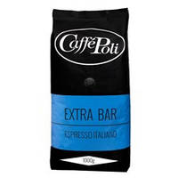 Кофе в зернах Caffe Poli Extrabar 1кг 75/25