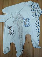 """Велюровый человечек спальник """"Мишка"""" для новорожденного малыша, украинский производитель"""