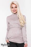 Гольф для беременных и кормящих NILA, капучино меланж, фото 1