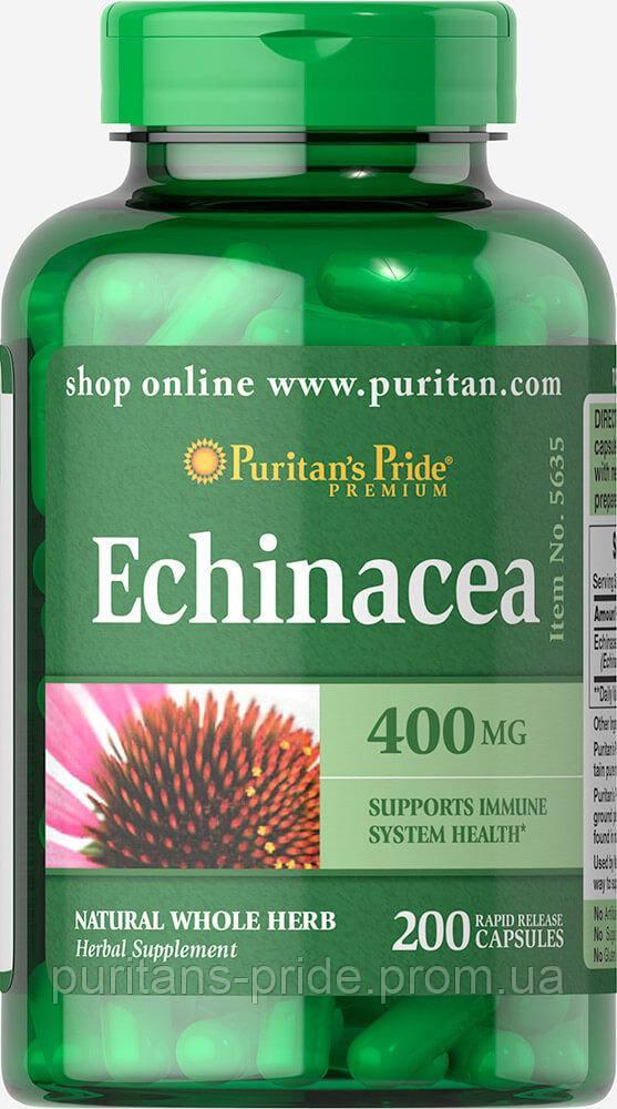 Эхинацея для иммунитета, Puritan's Pride Echinacea 400 mg 200 Capsule