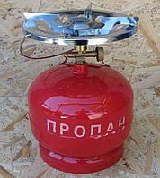 Газовый баллон 5л с горелкой Пикник. Газовый комплект 5 литров Примус