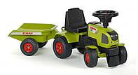 Трактор-каталка Falk Claas AXOS зеленый с прицепом