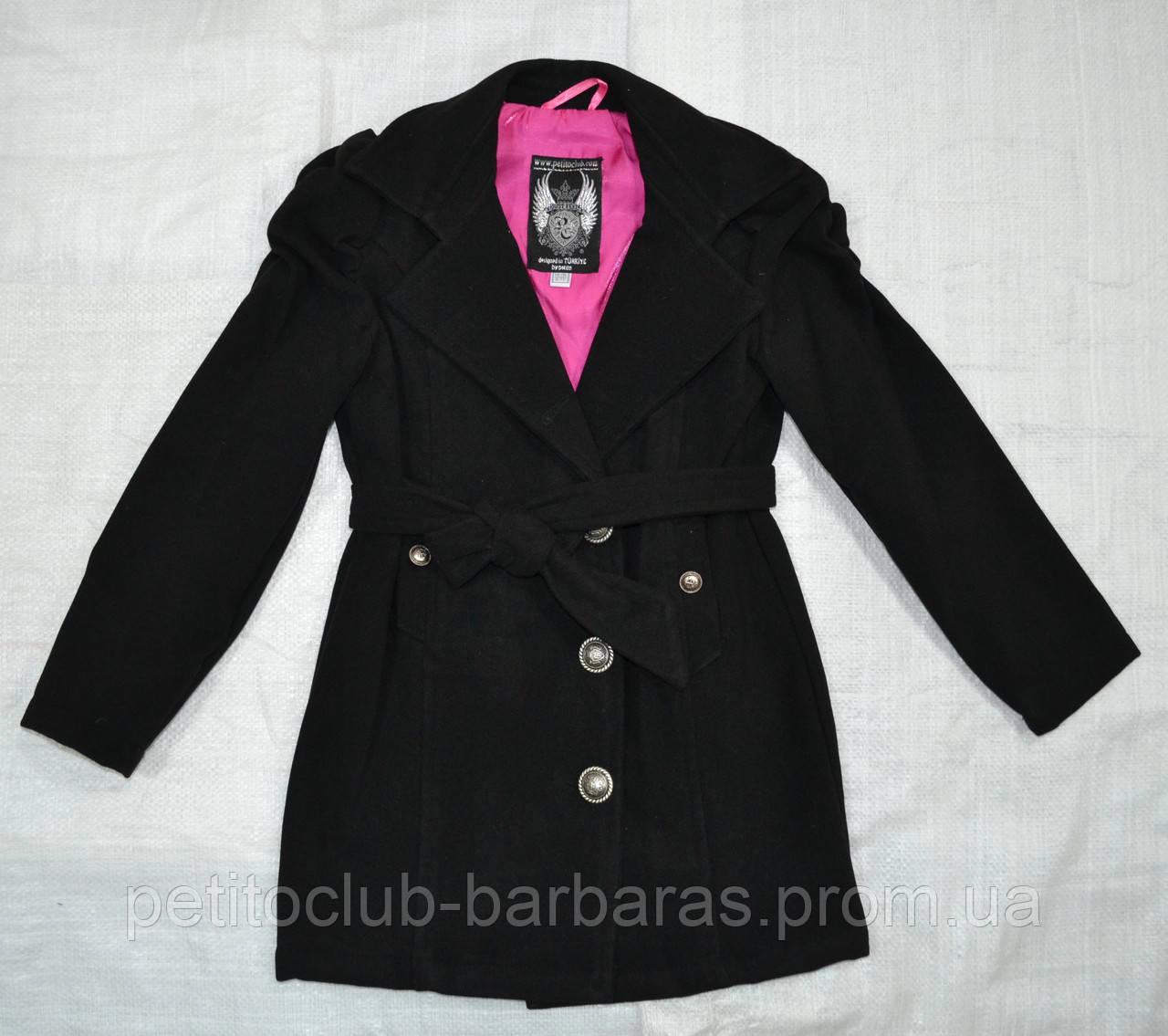 Демисезонное пальто для девочки Gina черное (Petito club, Турция)