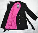 Демисезонное пальто для девочки Gina черное (Petito club, Турция), фото 5