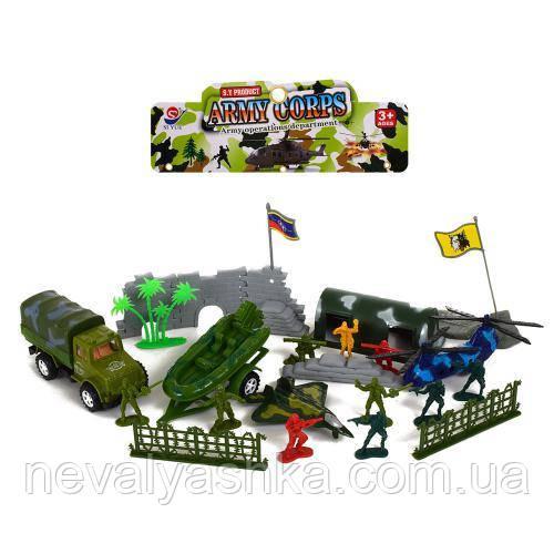 Комбат, Военный Игровой Набор,военная техника, солдатики, укрытие, деревья, в кульке, 8611, 009411