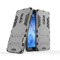 Чехол Meizu 15 Plus 5.95'' Hybrid Armored Case темно-серый
