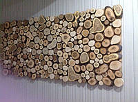 """Дерев'яна панель з спилов """"Пульс"""""""