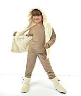 Теплая детская пижама с жилеткой и тапочками, фото 1