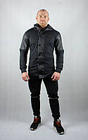 Стильный спортивный черный костюм для мужчин