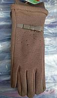 Перчатки с камушками/ бантиком женские