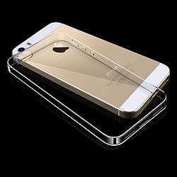 Прозрачный Чехол iPhone 5 5S SE (ультратонкий силиконовый) (Айфон 5 5С СЕ)