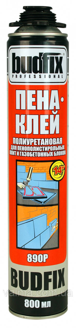 Пена-клей BUDFIX 890 P под пистолет полиуритановый (800 мл)