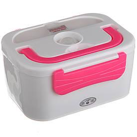 Автомобильный ланч бокс с подогревом (3066YY/ 12v) Розовый
