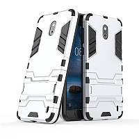 Чехол Nokia 2 Hybrid Armored Case светло-серый
