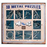 Набор металлических головоломок 10 Metal Puzzle Blue Eureka!, фото 1