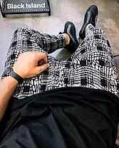 Стильные мужские брюки серая клетка, фото 3