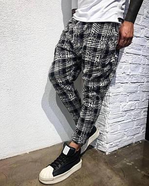 Стильные мужские брюки серая клетка, фото 2